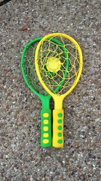 twp yellow and green plastic rackets Corinth, 76208