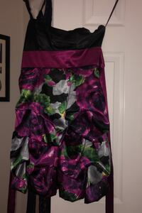 Floral Strapless teen size Sunday Dress size small