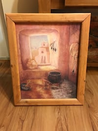 Southwestern Picture With Custom Wood Frame  West Palm Beach, 33409