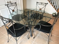 IRON/GLASS DINING TABLE Ashburn
