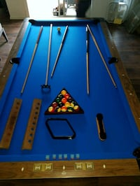 blue and brown wooden pool table Long Beach