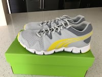 Brand new PUMA  running shoes size 9.5. Grey and yellow color. Sunny Isles Beach, 33160