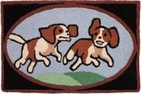 Accent Rug featuring 2 dogs playig Dallas