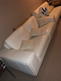 White Leather couch Coquitlam, V3E 3R3