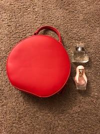 red and black leather bag 2376 mi