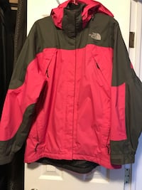 NORTH FACE Women's jacket size Large waterproof, lightweight, hooded/removable