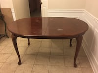 Dining room table with 6 chairs****REDUCED*** Must Go!!!