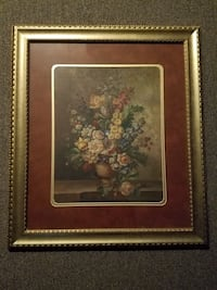 brown wooden framed painting of flowers Secaucus, 07094