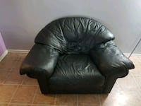 black leather sofa chair with ottoman Toronto, M9N 1G5
