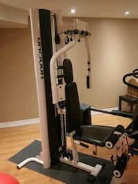 Physiotherapy grade leg and chest fitness machine.
