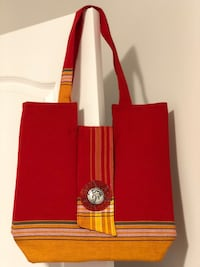 red and brown leather tote bag Oakville, L6H 0R6