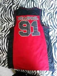 black and red Deadpool 91 jersey shirt Fort Collins, 80526