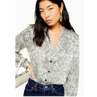 nwt Topshop Smudge Spot Scallop Blouse 4 Burnaby