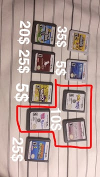 ds and 3ds games  Kelowna, V1X 5G6