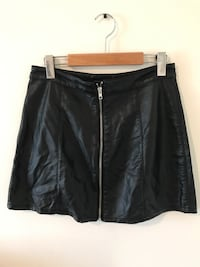 Forever21 Faux Leather Zip Up Skirt - Size Medium