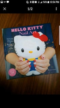 Hello Kitty Nail Art book with decals. Brand new.