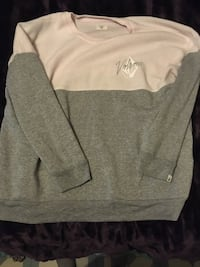 Gray and white crew-neck sweater Kingston, K7L 5H6
