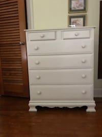 Chest of drawers, white BRADENTON