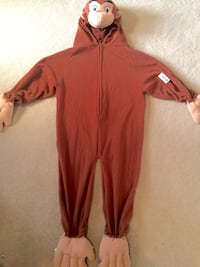 Curious George Costume- Size Small (2-5 years) Edmonton, T6X 0A8