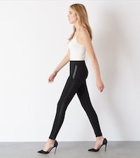 Black leggings with leather sides  Ajax, L1T 1Y5