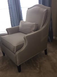 2 upholstered chairs with nail head accents. $150 each   Richmond, 77407