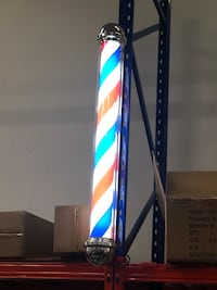 "LED Barber pole light ~ ""47"