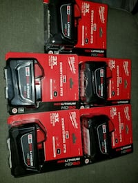 5 new Milwaukee 9.0 batteries Woodbridge, 22193