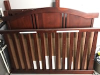 Crib with changing table, mattress, bedding set  Palm Harbor, 34684