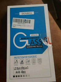 Anti spy tempered glass for lg stylo 3 plus Jacksonville, 32206