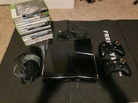 Xbox 360 250gb 2 controllers +games OBO Mission, V4S 0A8