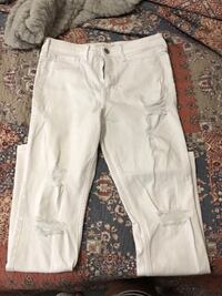 white straight-cut jeans Alabaster, 35007