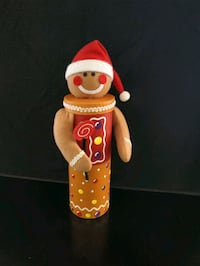 Christmas Gingerbread Man Wine Holder Gift Box