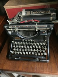 black and gray typewriter with case Wheaton, 60189