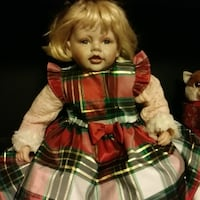 girl doll in red and white dress Newberry, 47449