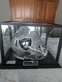 CHARLES WOODSON SPEED AUTHENTIC SIGNED HELMET AND DISPLAY CASE W/COA