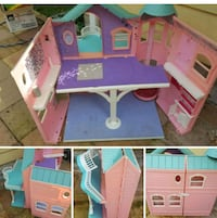 pink and blue plastic dollhouse Abbotsford