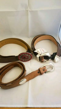 3 Belts and Buckles - size 34 Austin, 78727