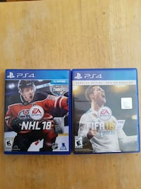 two Sony PS4 game cases Laval, H7W 4J9