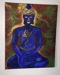 16x20x.50 Buddha oil painting on canvas.  Calgary, T3E 6L9
