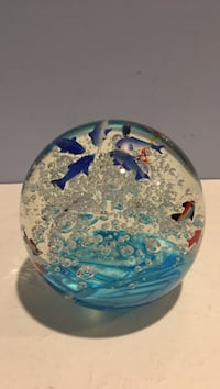 Paper Weight Fish Dolphins Bubbles sea wave Elkton, 21921