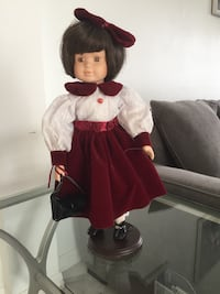 Girl porcelain doll in white and red dress Port Saint Lucie, 34984