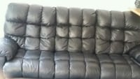 black leather 3-seat recliner sofa Surrey, V3V 1S6