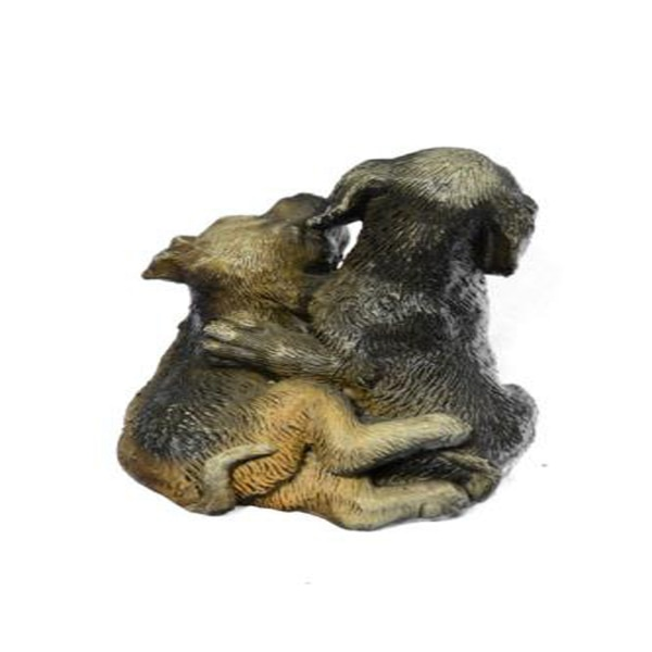 Multi Color Vienna Two Labrador Dogs Bronze Sculpture (4X3 Inches) 156a411a-590c-4eef-b236-47a360884ec3