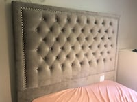 Queen grey studded tuffed headboard. Mint condition!  $250 OBO Mississauga, L5J 3Z2