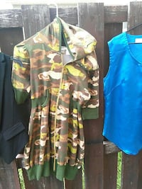 yellow, green, and brown camouflage jacket Calgary, T2B 2T8