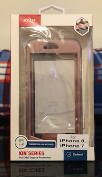 Zilo iPhone 7 or 8 Phone Cover with Tempered Glass Stafford, 22554