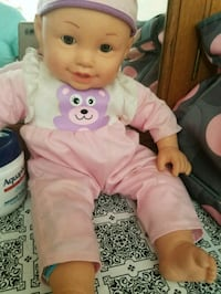 baby doll in pink and white onesie Salt Lake City, 84108
