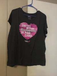 black and pink scoop-neck shirt London, 40741