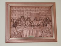 "3D Carving Of The Last Supper 19""X15"" Burlington"