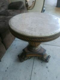 Marble top pedestal table 28 by 28 Hallandale Beach, 33009